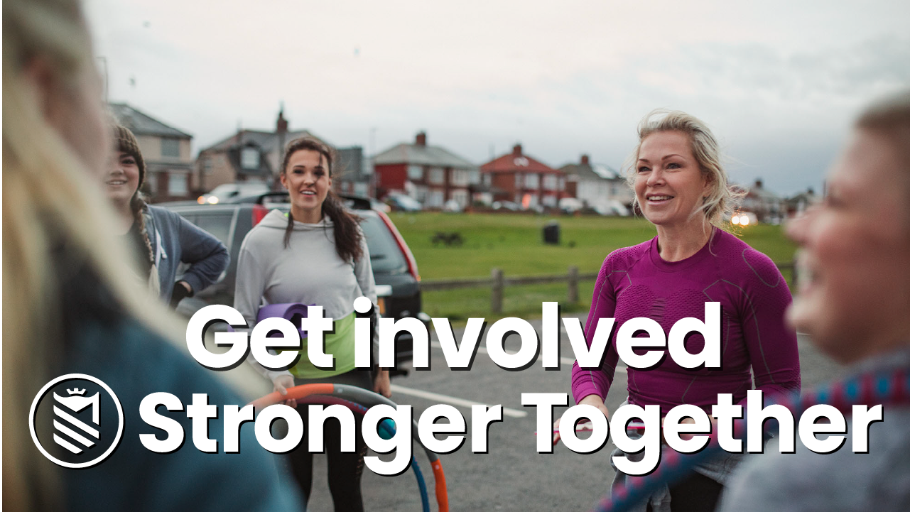 GET INVOLVED WITH STRONGER TOGETHER